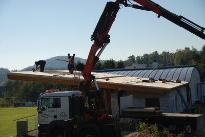 Errichtung Dach Zubau